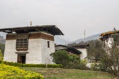 Entrada de Punakha Dzong, Bhután Imagen de archivo