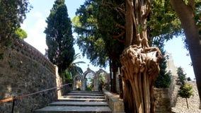 Entrada de Savina Monastery en Herceg Novi, Montenegro fotos de archivo libres de regalías