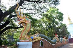 A entrada de templos tailandeses Imagem de Stock