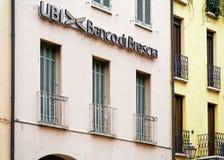 Entrada de UBI Banca di Brescia em Mantua fotografia de stock royalty free