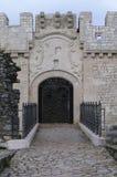 Entrada de um castelo Foto de Stock