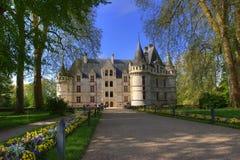 Entrada de un castillo francés Fotografía de archivo libre de regalías