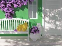 Entrada de una casa Imagen de archivo libre de regalías