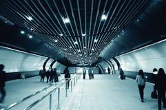Entrada de una estación de metro Imagen de archivo