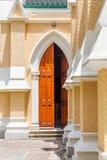 Entrada de una iglesia Imágenes de archivo libres de regalías
