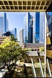 Entrada de vidro ao edifício moderno Foto de Stock Royalty Free