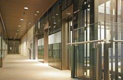 Entrada de vidro do elevador Imagem de Stock