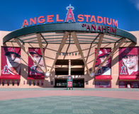 Entrada del Angel Stadium of Anaheim Foto de archivo