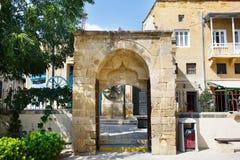 Entrada del arco fuera de la mezquita de Selimiye Imagen de archivo libre de regalías