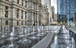 Entrada del ayuntamiento de Philadelphia Imágenes de archivo libres de regalías