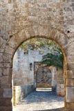 Entrada del castillo Fotos de archivo libres de regalías