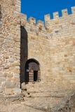 Entrada del castillo de Belver imagen de archivo libre de regalías