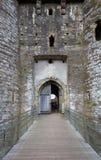 Entrada del castillo de Kidwelly Fotos de archivo libres de regalías