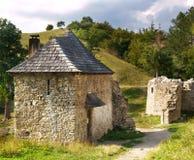 Entrada del castillo de Sklabina fotografía de archivo
