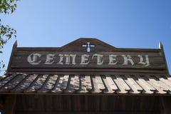Entrada del cementerio Fotos de archivo libres de regalías