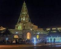 Entrada del centro histórico de Cartagena en la noche Fotografía de archivo