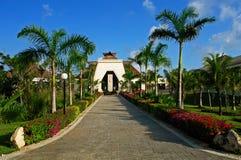 Entrada del centro turístico Foto de archivo