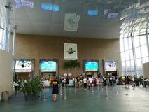 Entrada del centro turístico de Therme Imágenes de archivo libres de regalías