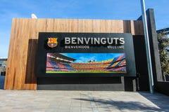 Entrada del club del fútbol de Barcelona fotos de archivo