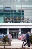 Entrada del edificio del diseño moderno Imágenes de archivo libres de regalías