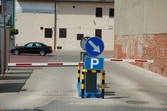 Entrada del estacionamiento Imágenes de archivo libres de regalías