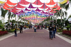 Entrada del festival floral de Putrajaya foto de archivo