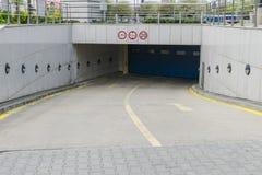 Entrada del garaje de subterráneo Imagenes de archivo