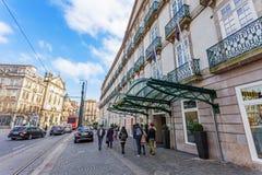 Entrada del hotel intercontinental de Palacio das Cardosas Fotografía de archivo libre de regalías