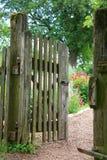 Entrada del jardín fotografía de archivo