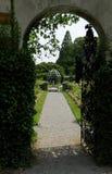 Entrada del jardín Foto de archivo