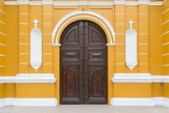 Entrada del La Ermita de Iglesia en Barranco, Lima Imagenes de archivo