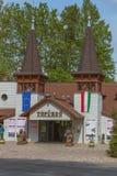 Entrada del lago termal Heviz en Hungría Foto de archivo libre de regalías
