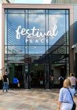 Entrada del lugar del festival fotografía de archivo
