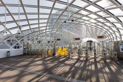 Entrada del metro de la estación de la central de La Haya Fotos de archivo