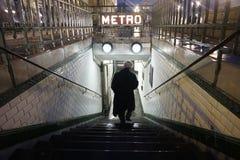 Entrada del metro de París Imágenes de archivo libres de regalías