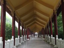 Entrada del monasterio budista Imagen de archivo