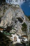 Entrada del monasterio de Ialomita Foto de archivo