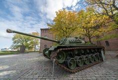 Entrada del museo de las fuerzas armadas de Oslo foto de archivo libre de regalías
