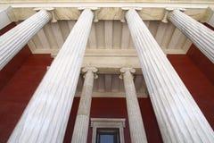Entrada del Museo Nacional de Atenas Imagen de archivo