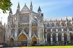 Entrada del norte de la abadía de Westminster en Londres Foto de archivo