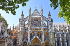 Entrada del norte de la abadía de Westminster en Londres Fotos de archivo libres de regalías