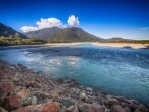 Entrada del océano en Nueva Zelanda Imágenes de archivo libres de regalías