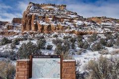 Entrada del oeste del monumento nacional de Colorado imagen de archivo