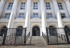 Entrada del Palacio de Justicia fotos de archivo libres de regalías