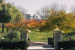 Entrada del parque imagen de archivo libre de regalías