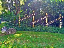 Entrada del parque de naturaleza de Bukit Batok Fotografía de archivo libre de regalías
