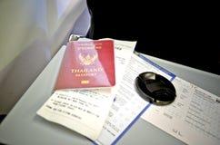 Entrada del pasaporte y del documento Imagen de archivo libre de regalías