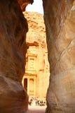 Entrada del Petra foto de archivo