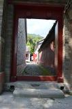Entrada del pueblo Foto de archivo