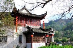 Entrada del pueblo de Xidi Imágenes de archivo libres de regalías